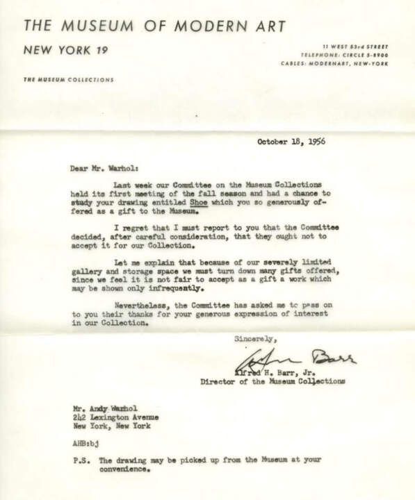 15 ego crushing letters sent to famous people 8 andy warhol spiritdancerdesigns Choice Image