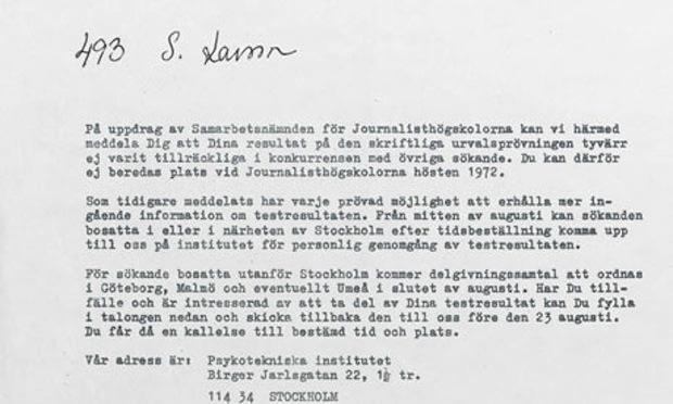 rejection letters sent to famous people