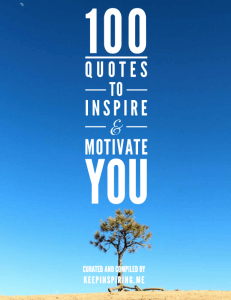 100 Quotes to Inspire and Motivate You