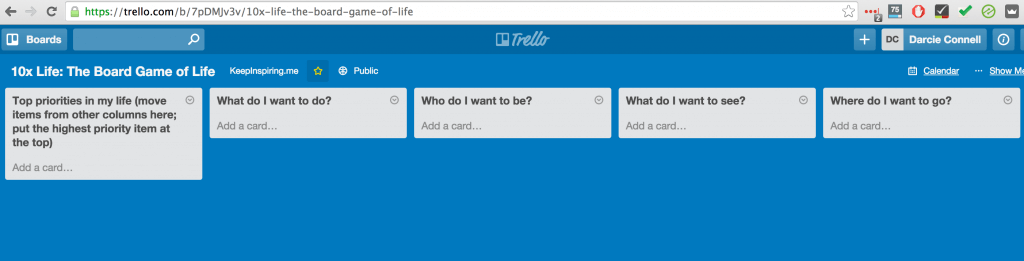 Trello: Board Game of Life