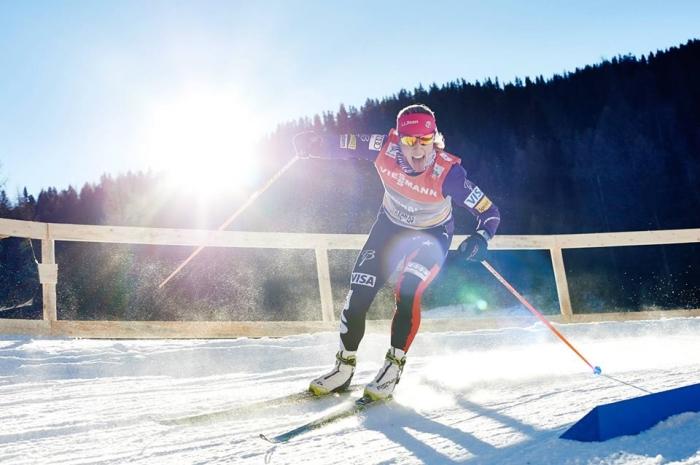 kikkan-randall-skiing