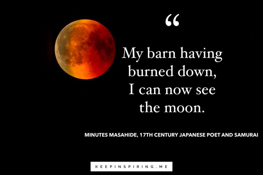 Closeup of a Blood Moon in a dark night sky