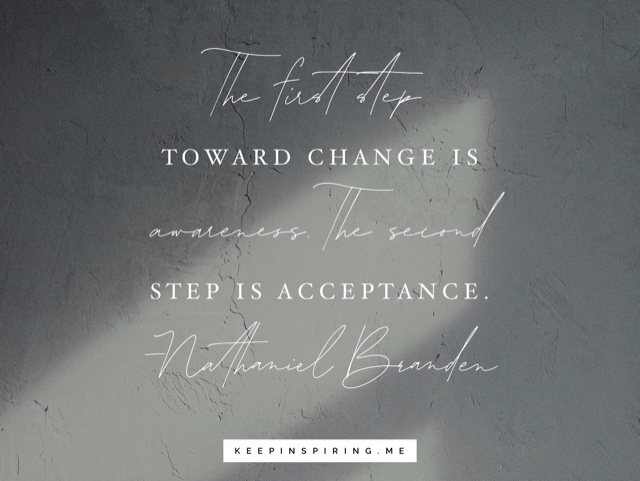 Nathaniel Branden quote on a slate gray background