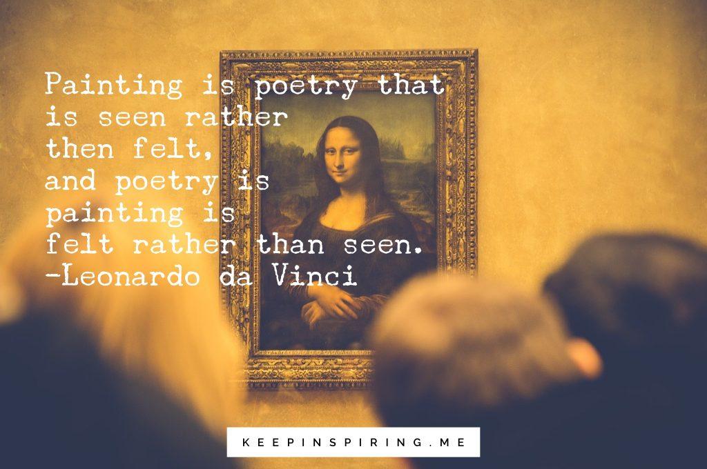 Three art students looking at the Mona Lisa at the Louvre.