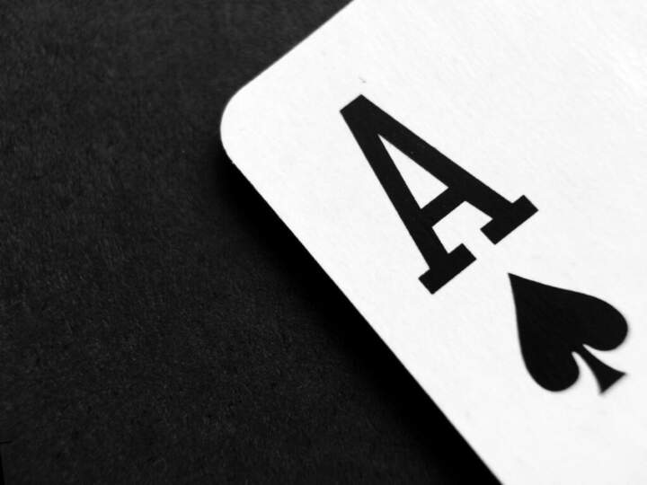 a playing card, the Ace of spades