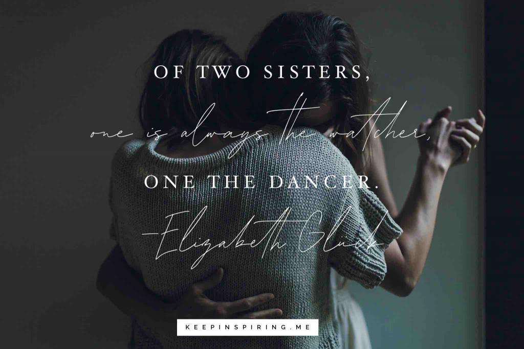 Two sisters dancing together and discussing their unique bond together