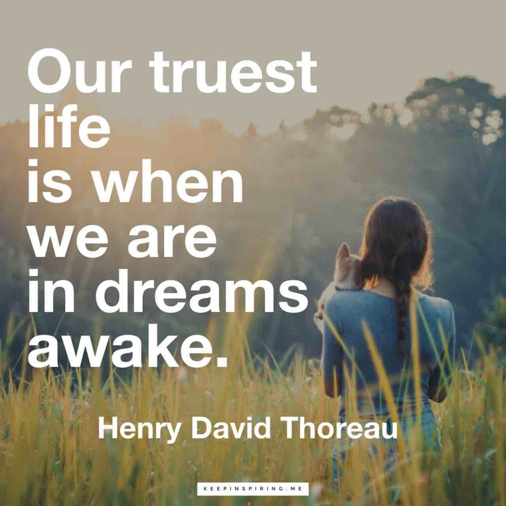 """""""Our truest life is when we are in dreams awake"""""""